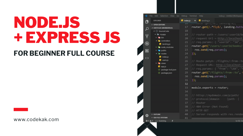 Node JS + Express Basic Full Course in 2 Hours – Programming